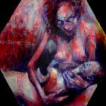 akryl na plátně,formát-50*50cm,soukromá sbírka