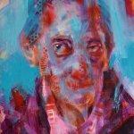 akryl a sprej na plátně-50*70cm
