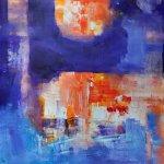 akryl na nepodrámovaném plátně.formát-45.5*60.5cm