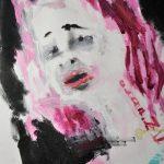akryl na nepodrámovaném plátně, fomát - 45*60cm, namalováno cca 2013